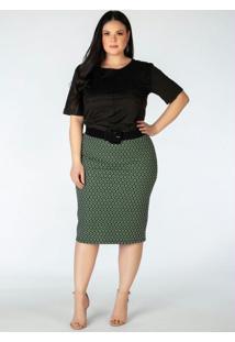 Blusa Plus Size Em Suede Preta