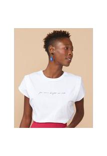 Amaro Feminino T-Shirt Regular Beijos Ao Vivo, Branco