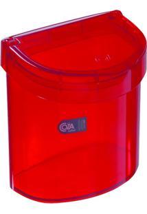 Lixeira De Pia Glass 2,7 Litros Vermelho Transparente Coza