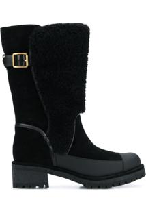 Tory Burch Ankle Boot De Lã - Preto