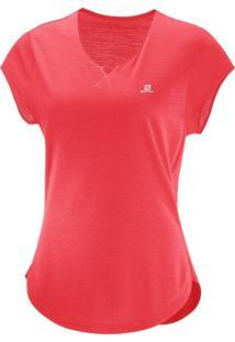 Camiseta Salomon X Ss Feminino Gg Laranja