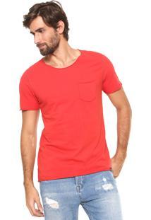 Camiseta Dimy Com Bolso Vermelha
