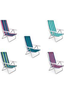 Cadeira Reclinável Mor, Alumínio, Cores Sortidas - 2104