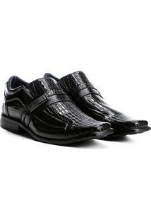 Sapato Social Walkabout Texturizado Masculino - Masculino-Preto