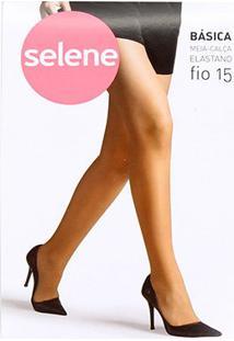 Meia Calça Selene Básica Fio 15 Feminina - Feminino-Marrom