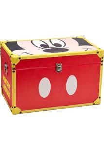 Baú Mickey® Parts- Vermelho & Amarelo- 32X50X32Cm