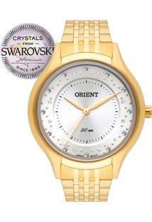 7b6b3affe78 Eclock. Relógio Feminino Aço Dobrável Analógico Orient Clock Swarovski  Fgss0114g1kx