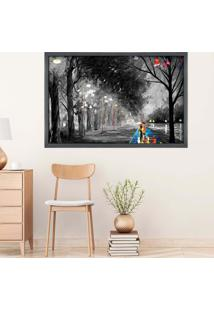 Quadro Love Decor Com Moldura Couple Grafitti Metalizado Grande