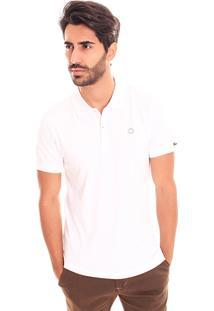 Camiseta Polo Convicto Basica Cotton Branco