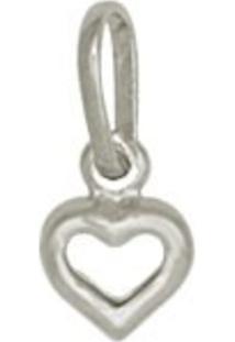 Pingente Prata Mil Coração Pequeno Vazado Prata