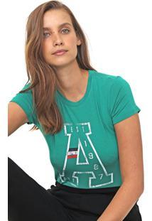 Camiseta Aeropostale Estampada Verde