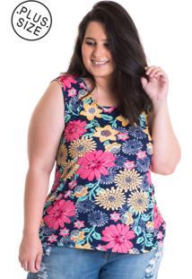b09f460a32 Regata Estampada Plus Size feminina