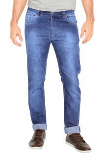 Calça Jeans Mr Kitsch Slim 9020 Bolsos Azul