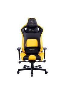 Cadeira Gamer Husky Gaming Hailstorm 900, Preto E Amarelo, Com Almofadas, Reclinável Com Sistema Frog, Descanso De Braço 3D - Hgma091