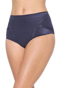 Calcinha Triumph Hot Pant Recortes Azul-Marinho