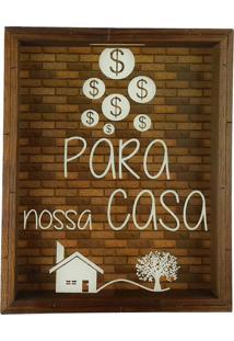 Quadro Cofre Art Frame Madeira Rútico Decorativo Para Nossa Casa Marrom