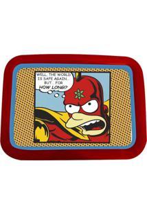 Bandeja Simpsons Heroes 34X48X2Cm Vermelha Trevisan Concept