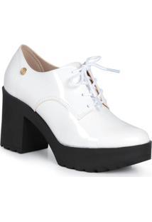 Sapato Oxford Moleca Robusto Branco