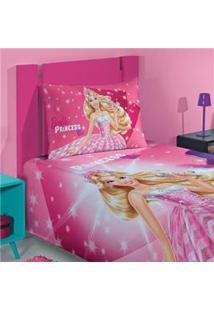 Colcha Solteiro Infanto Juvenil Lepper Barbie Rock Royals Em Poliéster E Algodão Com 1 Peça - Estampada