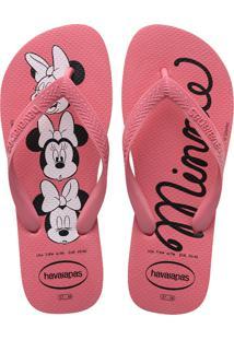Sandálias Havaianas Top Disney Rosa
