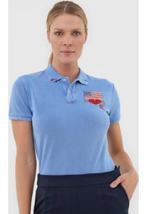 Camisa Polo Polo Ralph Lauren Bandeira Azul