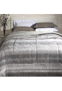 Cobertor Dupla Face Extramacio King Duo Blanket Cinza Bless - 100% Poliéster - Kacyumara