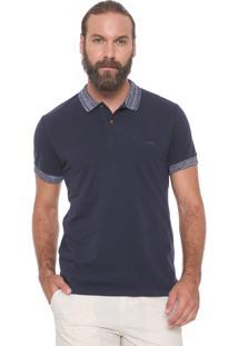 Camisa Polo Colcci Reta Mescla Azul-Marinho