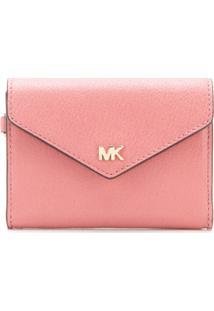 Michael Michael Kors Carteira Envelope Com Logo - Rosa