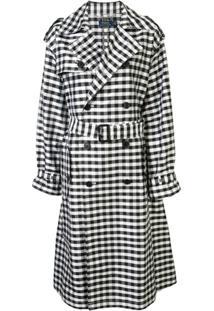 Polo Ralph Lauren Trench Coat Xadrez - Preto
