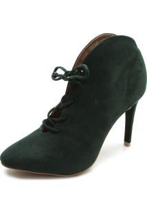 Ankle Boot Di Cristalli Cadarço Verde