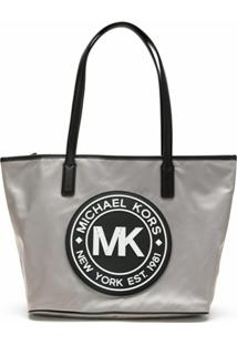 Michael Michael Kors Bolsa Tote Kenly Em Nylon - Cinza