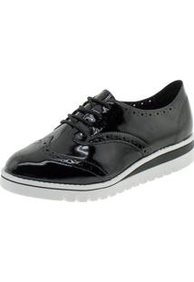 Sapato Feminino Oxford Beira Rio - 4174727 Verniz/Preto 37