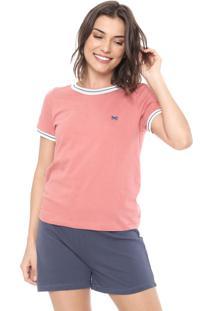 Pijama Hering Logo Rosa/Azul