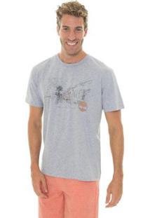 Camiseta Timberland Vintage City Masculina - Masculino-Cinza