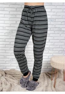 Calça Pijama Feminino Cinza E Preto