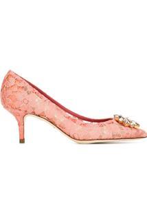 Dolce & Gabbana Scarpin 'Bellucci' De Couro - Rosa
