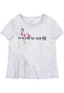 T-Shirt Em Malha De Algodão Com Apliques