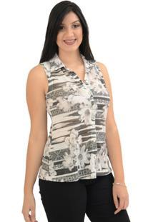 Camisa Moché Frescor - Feminino-Preto