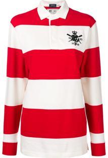 Polo Ralph Lauren Camisa Polo Listrada - Vermelho