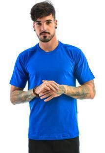 Camiseta Rich Young Básica Gola Careca Lisa Azul
