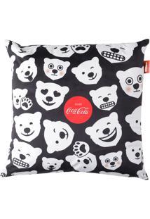 Capa De Almofada Coca-Cola Polar Bears Fd 45X45 - Urban - Branco / Preto