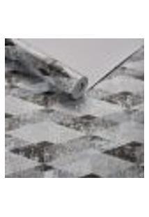 Papel De Parede Importado Geometrico Texturizado Preto 3D