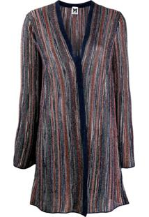 M Missoni Metallic Striped Cardigan - Azul