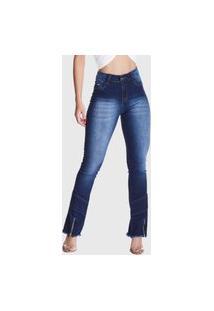 Calça Jeans Hno Jeans Flare Petit Ziper Azul
