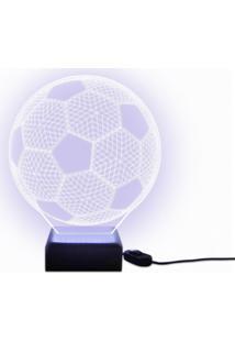 Luminária Acrilize Bola De Futebol Branca