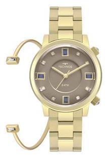 Relógio Technos Rocks Feminino Dourado