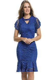 Vestido De Festa Midi Royal