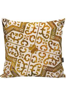 Capa De Almofada Indian- Bege & Amarelo Escuro- 45X4Stm Home