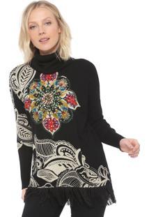 Suéter Desigual Tricot Holanda Preto