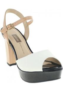 Sandália Dakota Feminina - Feminino-Branco+Preto